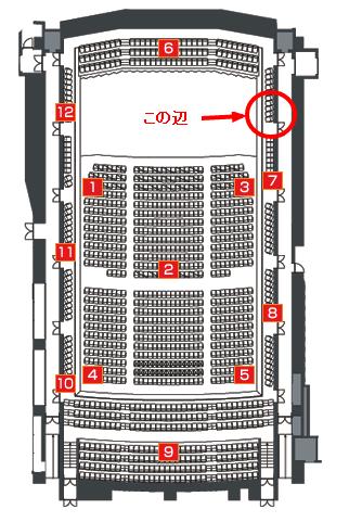 杉並公会堂:座席表