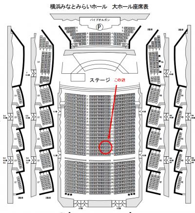 みなとみらいの座席図