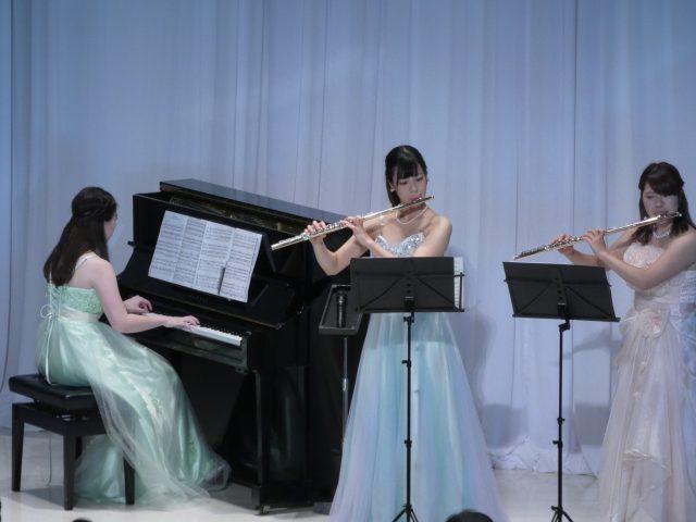 富永綾香、山田佳穂(フルート) 志村 真梨子(ピアノ )