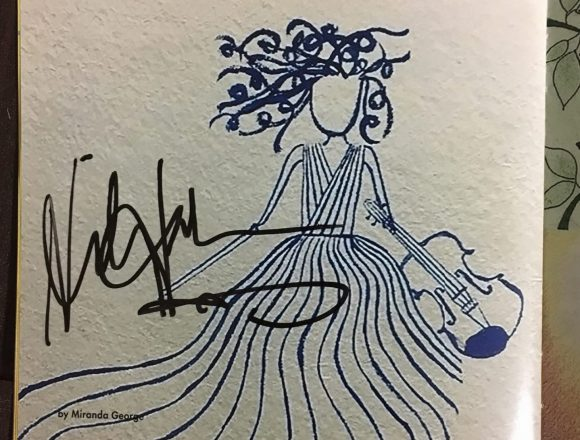 The sign of hilary Hahn. At September 5, 2018, recital at Opera City